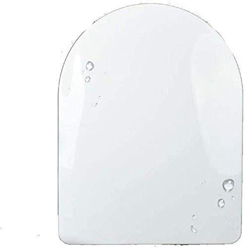 CVMFE T Tapa Forma WC con tampón de Gasa antibacteriana de Cierre Lento Silencio Ultra Resistente montada sobre la Cubierta de Asiento de Inodoro for el baño y el baño, White-47 * 36cm