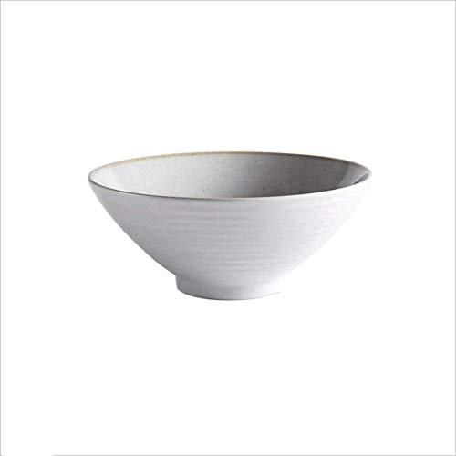 WECDS-E Vajilla de cerámica de Estilo japonés para el hogar, Cuenco de Sopa de Fideos de Gran Capacidad, Cuenco de Ramen, Cuenco de Carne en Forma de Cubo