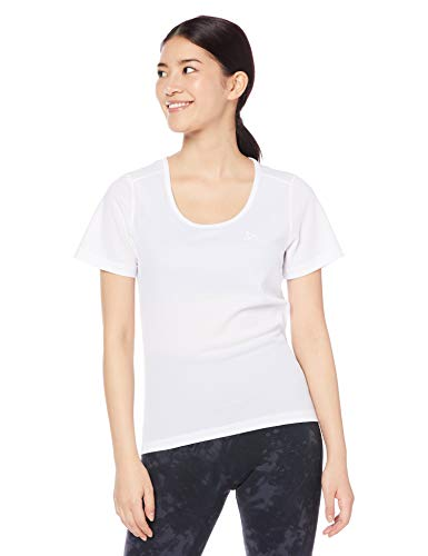 Odlo Damen Shirt s/s Crew Neck Active Cubic Light 2 Pack Unterhemd, White - Snow White, L