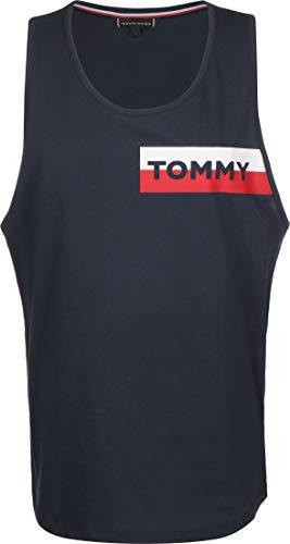 Tommy Hilfiger Herren Tank Schwimmshirt, Blau, Small (Herstellergröße:)