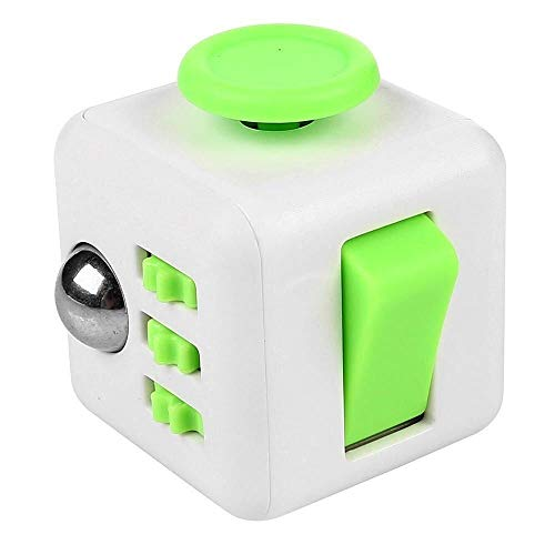Appash Fidget Cube Stress Anxiety Pressure Relieving Toy Great for Adults and Children[Gift Idea][Relaxing Toy][Stress Reliever][Soft Material] (White&Green)