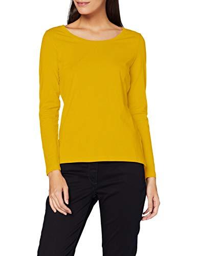ESPRIT Damen 998EE1K812 Bluse, 720/BRASS Yellow, XL