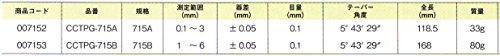 新潟精機 SK 円筒テーパーゲージカラーケースタイプ CCTPG-715A [7987]