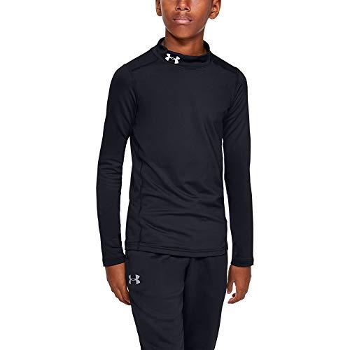 Under Armour Coldgear Armour Mock T-Shirt Manches Longues Garçon Noir FR : L (Taille Fabricant : Taille YLG)