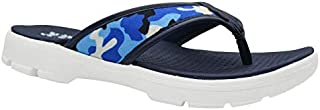 KazarMax XXIV Mens' Army Blue Walking EVA Thong Slippers/Flip-Flop (Made in India)