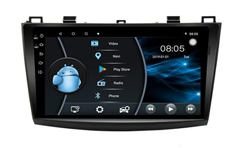 AEBDF Radio estéreo de Coche en la navegación del Tablero para Mazda 3 2011 2012 2013 2014 2015 2016 7 Pulgadas Sat Nav Pantalla táctil Reproductor de DVD Bluetooth,6 Core WiFi 2+32 (Ultra Thin)