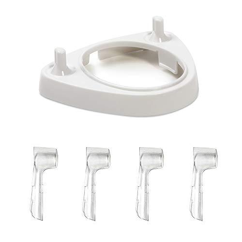 Ladestation für elektrische Zahnbürste mit 4 Bürstenkopfdeckeln für die Serie Oral-B