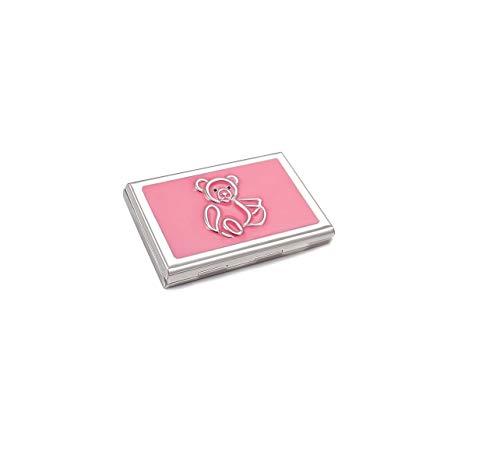 ba bijou-art Kartenetui Damen Geldbörse Pink Rosa Kristalle von Swarovski® Emaille Metall Edelstahl