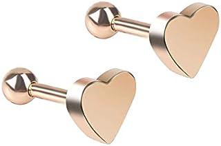 Orecchini a forma di osso - Orecchini a forma di cuore da donna Gioielli penetranti Orecchini a trago Cartilagine Elica Or...
