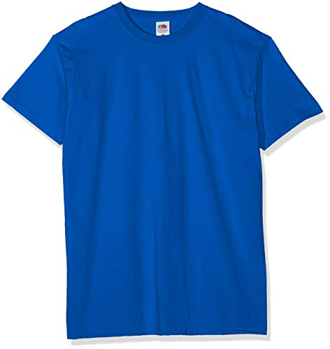 Fruit of the Loom Valueweight 5 Pack Camiseta, Azul (Royal Blue 51), Large (Pack de 5) para Hombre