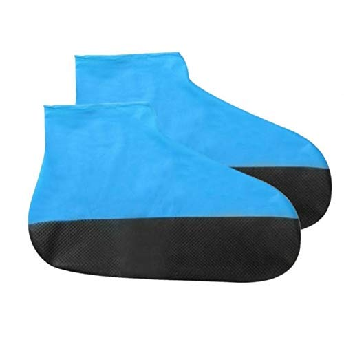 Yongqin Fundas Para Zapatos A Prueba De Agua 1 Par De Calzado Para Exteriores Reutilizable Funda Para Zapatos Portátil De Viaje Suela Gruesa Accesorios Protectores Anti-Lluvia Emulsión Imper