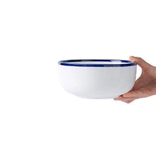 JINKEBIN Tazón grande para sopa, tazón grande para microondas, fideos, ensalada de frutas, vajilla, cocina (color: 18,5 x 8 cm)