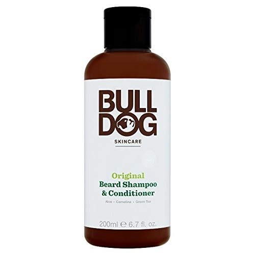 Bulldog Originele 2-in-1 Baard Shampoo en Conditioner voor Mannen, 200 ml, Pack van 4