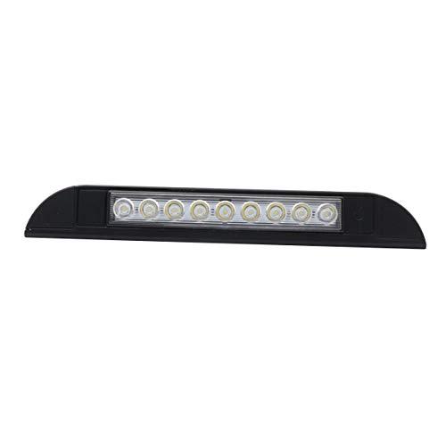 Kuinayouyi 12V 4.5W LED RV toldo luz 9 LEDs IP56 impermeable luz para yate Marine Caravan Remolque exterior Porche (negro)