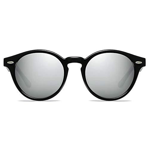 Kaper Go Gafas de sol de plástico coloridas, gafas de sol UV400, color gris/negro/azul/rosa, tendencia hombres y mujeres con las mismas gafas de sol de conducción (color: gris)