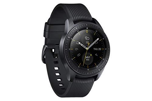 Samsung Galaxy Watch, Runde Bluetooth Smartwatch Für Android, drehbare Lünette, Fitness-tracker, 42mm, ausdauernder Akku, Schwarz (Deutche Version)