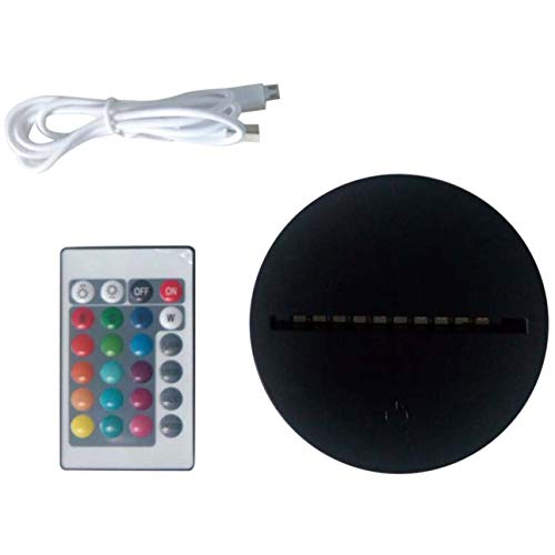 Ba30DEllylelly Bases de lámpara LED para luz de noche 3D Illusion 7 colores Interruptor táctil Base de reemplazo de control remoto para lámparas de escritorio de mesa 3D