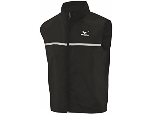 Mizuno Reflective Mens Running Gilet - Black-L
