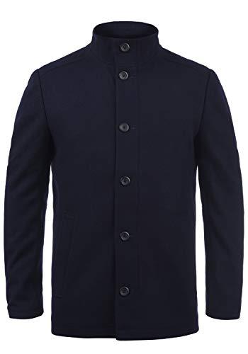 JACK & JONES Premium Jacinto Herren Winter Mantel Wollmantel Lange Winterjacke mit Stehkragen, Größe:L, Farbe:Navy Blazer