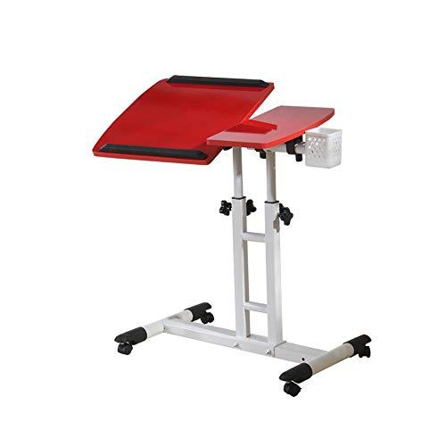 Tische Tabelle Schreibtisch Tragbar Laptop Stand Schreibtisch Wagen Mit Maus Tafel Einstellbar Höhe 360 ° Schwenken Und 180 ° Neigung Abschließbar Rollen CJC (Farbe : 1)
