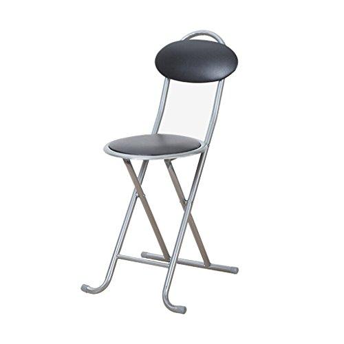Gfl Stühle Camping-Stühle Klappstuhl Haushalt Rückenlehne Esszimmer Stuhl Schwamm Leder Sitz Büro Sitzung Training Stuhl Schwarz (A+)