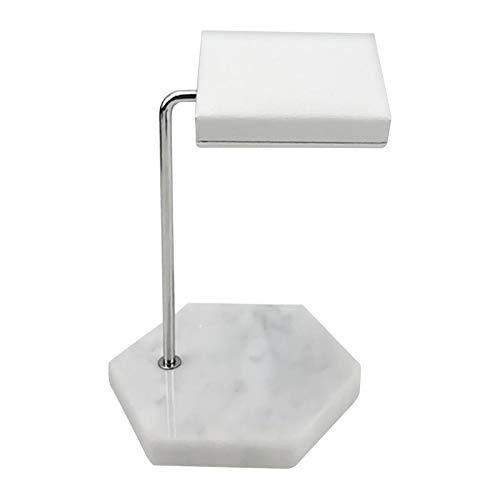 piaceto Marmor schmuck Uhr Display Stand Rack Halter für Ringe Halskette ohrring hängende anhänger Rack - Hexagon Weiß B