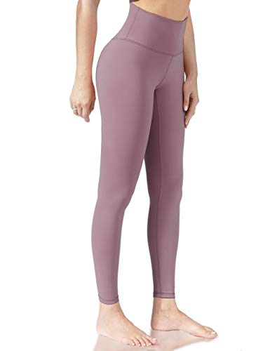 Natural Feelings Full Length Yoga Pants Workout Running High Waisted Leggings Lavender Purple