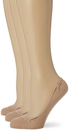 Pretty Polly Damen Mesh Cotton Footsie 1pp Füßlinge, 30, Beige (Nude Nude), Medium (Herstellergröße: SM) (3er Pack)