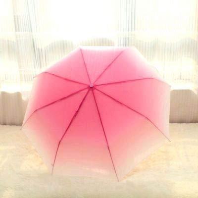 2020 Creativo Degradado Color Caramelo Paraguas Lluvia Mujer Paraguas para Mujer Paraguas Plegables a Prueba de Viento - Rosa