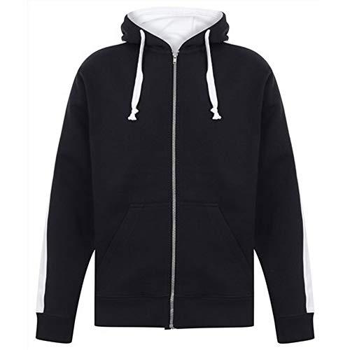 Finden & Hales - Sweatshirt à Capuche et Fermeture zippée - Homme (3XL) (Bleu Marine/Blanc)