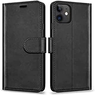 Sponsored Ad – PU Leather Mobile Case With Fold Kickstand Cover For iPhone12/12Pro (Black)