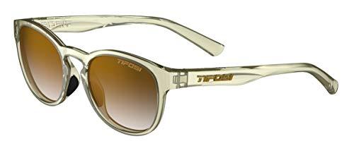 Tifosi Svago Sunglasses (Crystal Champagne, Brown Gradient)