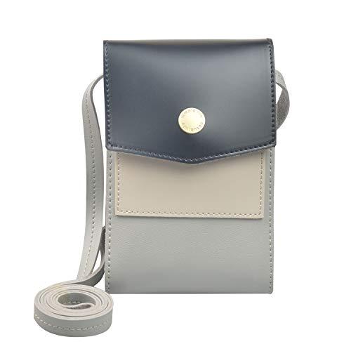 BELOCA Kleine Handy Crossbody Tasche für Frauen Mini Multifunktions Crossbody Umhängetasche Mädchen Damen Handy Geldbörse (Schwarz)