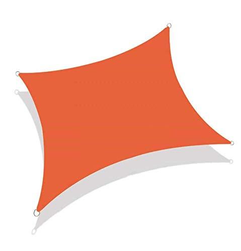 MJJYS Cortina de sombrilla Impermeable a Prueba de UV e Impermeables de 2 * 2m, Adecuada para jardín de Patio al Aire Libre, con Cuerda Libre,Naranja