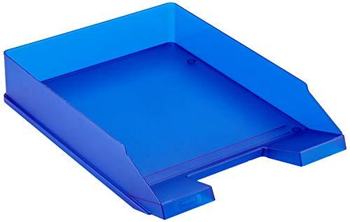 Idena 300881 - Ablagekorb für A4-C4, aus Kunststoff, transluzent royalblau, 1 Stück