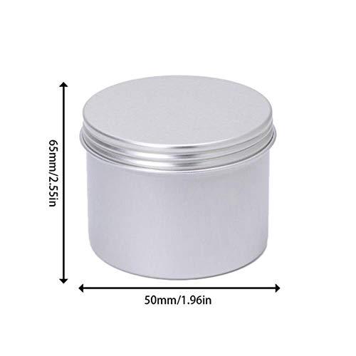 Vide en Aluminium Crème Pot Étain Cosmétique Baume À Lèvres Conteneurs Nail Dérocation Artisanat Pot Bouteille Vis Fil W5, A, Chine