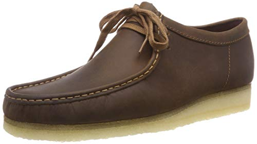 Clarks Originals Herren Wallabee Derbys, Braun (Beeswax Leather), 39.5 EU
