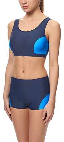 Merry Style Completo Bikini Nuoto Palestra Donna S1LL (Blu Scuro (6007)/Blu (60009), EU 38 (IT 44))