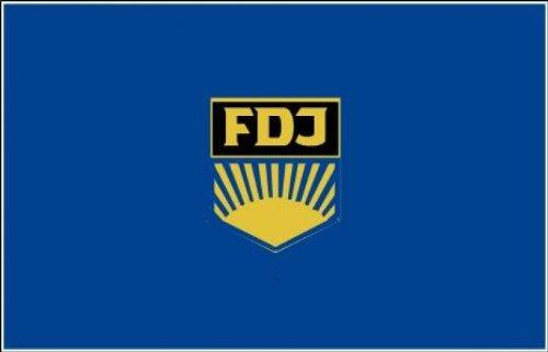 Flagge Fahne FDJ 90x150 cm