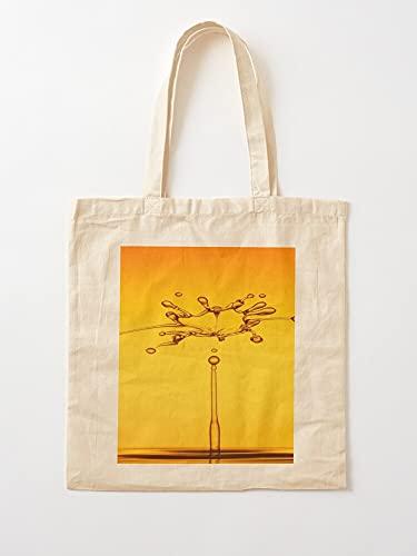Générique trends Water Nice Yellow Amazing Blink Cute Drops | Einkaufstaschen aus Segeltuch mit Griffen, Einkaufstaschen aus nachhaltiger Baumwolle