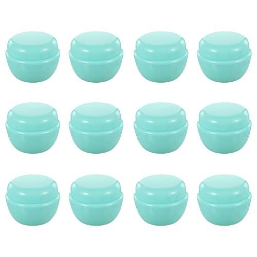 FOMIYES 12Pcs Kosmetische Behälter Leere Probe Gläser 30G Kunststoff Behälter Jar für Gepudert Lidschatten Mineralisierten Make- Up Kosmetische Proben Rosa
