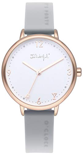 Mr wonderful Time for Fun Reloj para Mujer Analógico de Cua