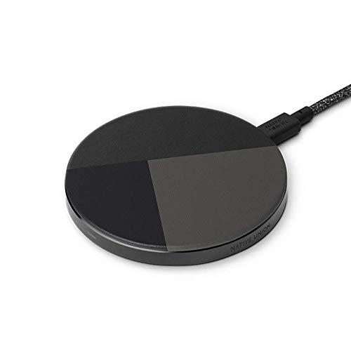 Native Union Drop Cargador Inalámbrico - [Qi Certified] 10W Pad Antideslizante de Carga Rápida para Dispositivos Inalámbricos Compatible con iPhone 12/12 Pro/12 Pro Max/12 Mini(Marquqtry Negro