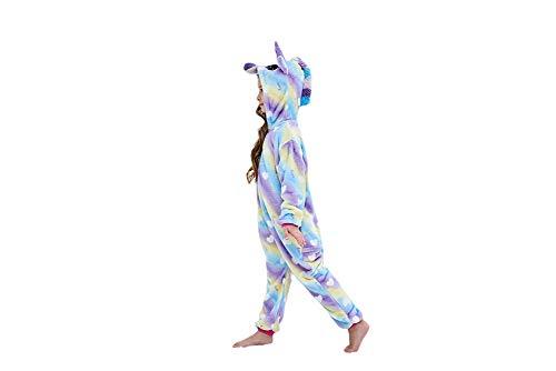 Kids Animal Cosplay Costumes Pajamas Christmas Children Rainbow Cloud Unicorn Onesie Birthday Gifts(2-4 Years)