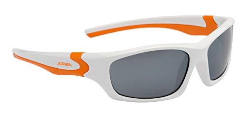 ALPJK #ALPINA Alpina Kinder Sonnenbrille FLEXXY TEEN Outdoorsport-brille, White-Orange, One Size