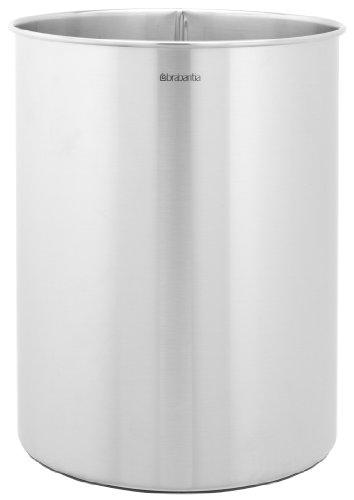 Brabantia Papelera cilíndrica, Metal, Acero Mate, 15 litros
