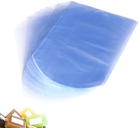 Round End Shrink Wrap Bags 6X8 Inches PVC Heat Shrink Wrap for Handmade Soap and Bath Bomb Art product image