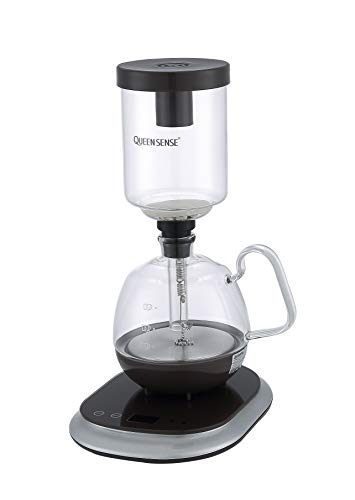 [Factory Store] QUEEN SENSE Patented Siphon/Syphon Coffee Maker Electric Vacuum Coffee Pot CM0601 (Siphon Coffee Maker)