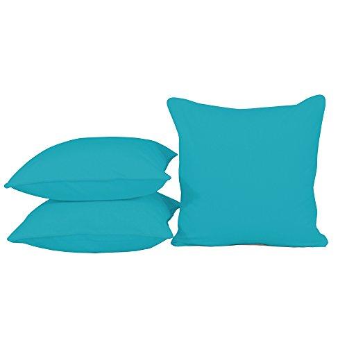 habeig Sitzkissen Kissen Outdoor Wetterfest 50x50 cm Zierkissen Gartenstuhl Auflagen (Türkisblau #481)