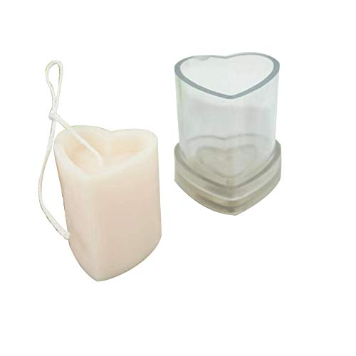 QLPXY Candle Making Soap Moulds, Plastic Handicraft Heart-shaped Candle Mold, Handmade Soap Moulds DIY Craft Tools